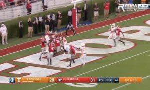 Tennessee Hail Mary vs Georgia