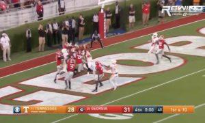 Tennessee Hail Mary vs Georgia