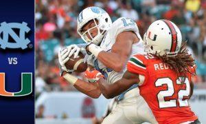 North Carolina vs Miami Football Highlights