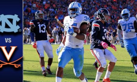 North Carolina vs Virginia Football Highlights