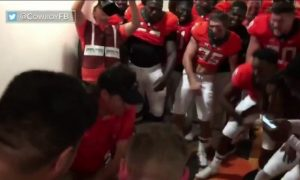 Mike Gundy dance after win