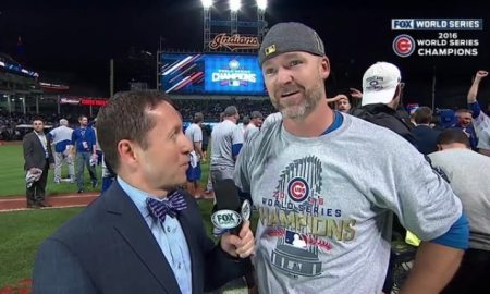 David Ross interview after World Series