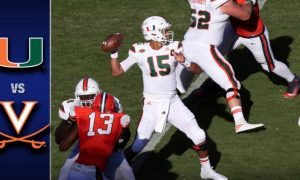 Miami vs Virginia Football Highlights