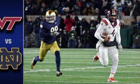 Virginia Tech vs Notre Dame Football Highlights