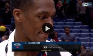 Rajon Rondo Talks About Reaching New Career High in Assists